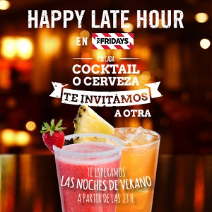 ¡Happy Late Hour en Fridays!
